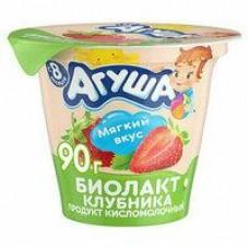 Биолакт Агуша сладкий; клубника 3/3,2%, 90 г