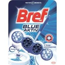 Блок для унитаза Вref blue color activ; чистящее средство для унитаза Вref WC лимонная свежесть, 50 г