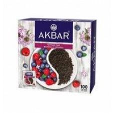 Чай Аkbar малина-черника; черника-чабрец-облепиха; яблоко-шиповник 100 пакетиков, 150 г