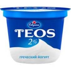 ЙОГУРТ TEOS ГРЕЧЕСКИЙ НАТУРАЛЬНЫЙ 2% 250Г