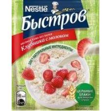 Каша моментального приготовления Быстров овсяная с молоком клубника; черника, 40 г
