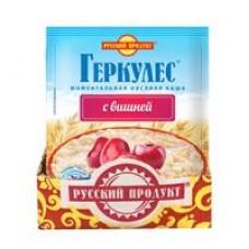 Каша мометального приготовления овсяная Геркулес с вишней; с клубникой Русский продукт, 35 г