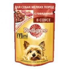 Консервы Рedigree курица паштет для мелких пород курица, 80 г; для взрослых собак мини пород говядина-овощи, 85 г