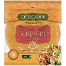 Лепешки Delicados Tortillas мексиканские пшеничные сырные, 400 г