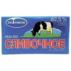 Масло сливочное Экомилк высший сорт ГОСТ 82,5%, 180 г