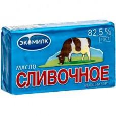 Масло сливочное Экомилк высший сорт ГОСТ 82,5%, 380 г