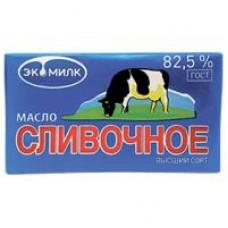 Масло сливочное ГОСТ Экомилк высший сорт 82,5%, 180 г
