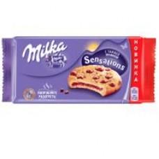 Пирожное Мilka с шоколадной начинкой, 175 г; печенье Мilka с кусочками шоколада, 168 г; печенье Milka Sensations с шоколадной начинкой, 156 г
