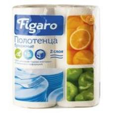 Полотенца бумажные Д Figaro двухслойные белые, 2 шт
