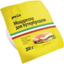Сыр Рretto Мozzarella для бутербродов 45%, 200 г
