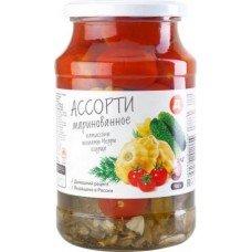 Ассорти овощное Дикси патиссоны-черри-огурцы маринованные, 900 г