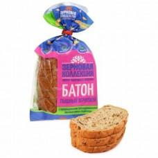 Батон Волжский Пекарь с проросшими зернами ржи и пшеницы, 200 г