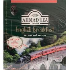Чай Ahmad Tea English Breakfast черный в пакетиках, 100 шт