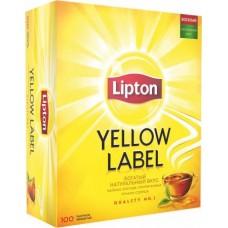 Чай Lipton Yellow Label черный в пакетиках, 100 шт