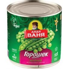 Горошек Дядя Ваня зелёный, 400 г