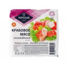 Крабовое мясо Мореслав имитация охлажденное, 200 г