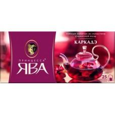 Напиток Принцесса Ява Каркадэ чайный из лепестков суданской розы, 25x1,5 г