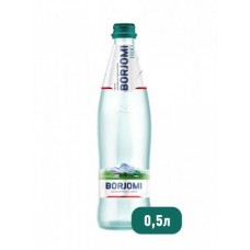 Вода Borjomi природная минеральная в стекле, 0,5 л